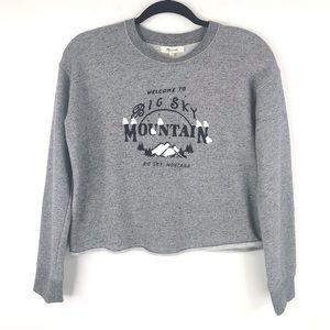 Madewell Big Sky Mountain Cutoff Sweatshirt Gray